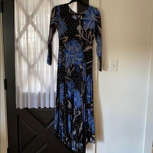 Free People Blue Floral Dress Size Small